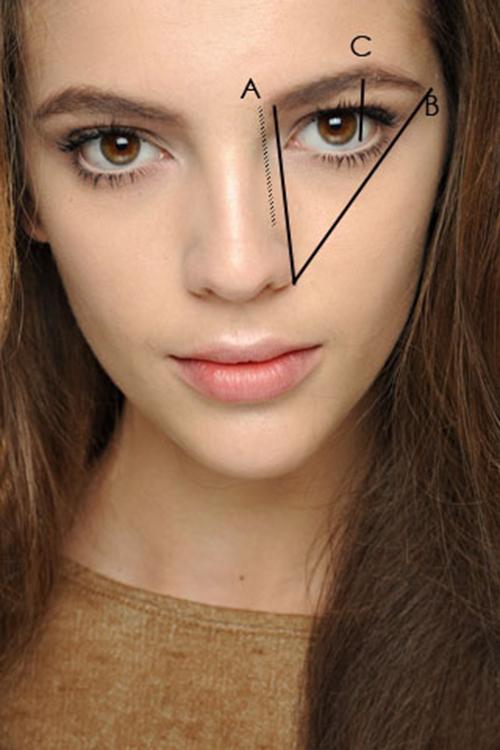 dáng lông mày cho khuôn mặt dài