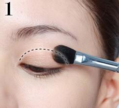 cách trang điểm mí mắt 1