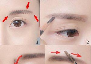 Hướng dẫn tạo kiểu lông mày ngang cho từng kiểu khuôn mặt