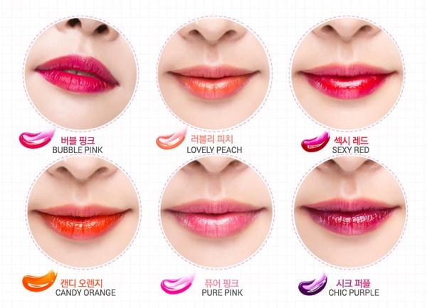 bảng màu phun môi