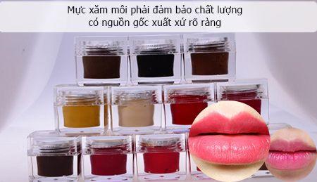 phun xăm môi không lên màu