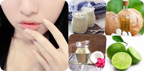 trị thâm môi bẩm sinh bằng dầu dừa