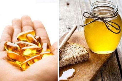 trị thâm môi bằng vitamin e và mật ong
