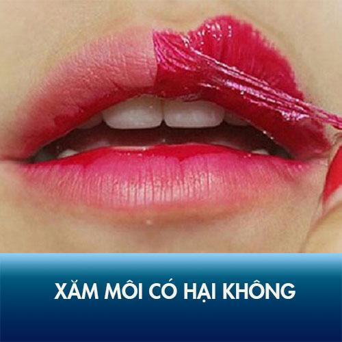 phun xăm môi có hại không