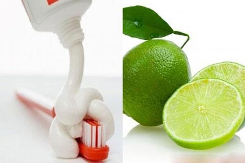 cách làm môi hết thâm bằng kem đánh răng