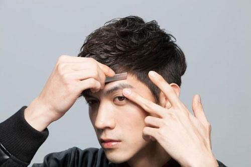 cách tỉa lông mày cho nam